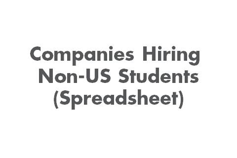 Companies Hiring Non-US Students