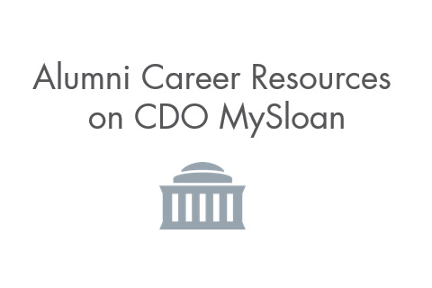 Alumni Career Resources Site on MySloan