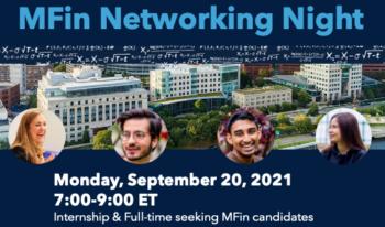 MFin Networking Night @ MIT Sloan