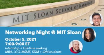 Networking Night @ MIT Sloan